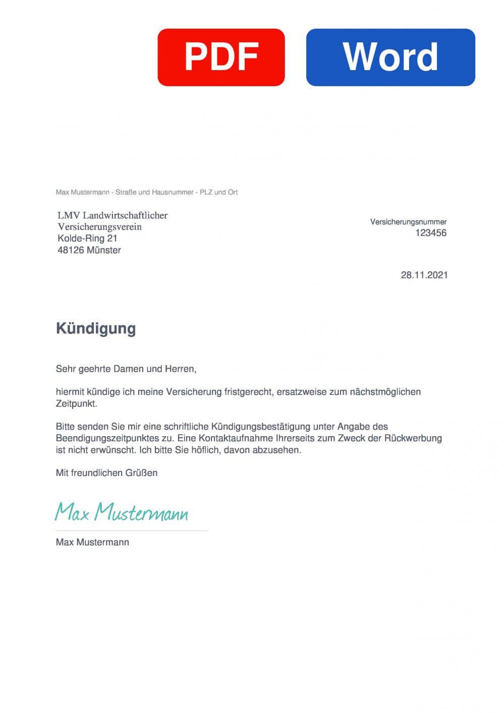 LVM Muster Vorlage für Kündigungsschreiben