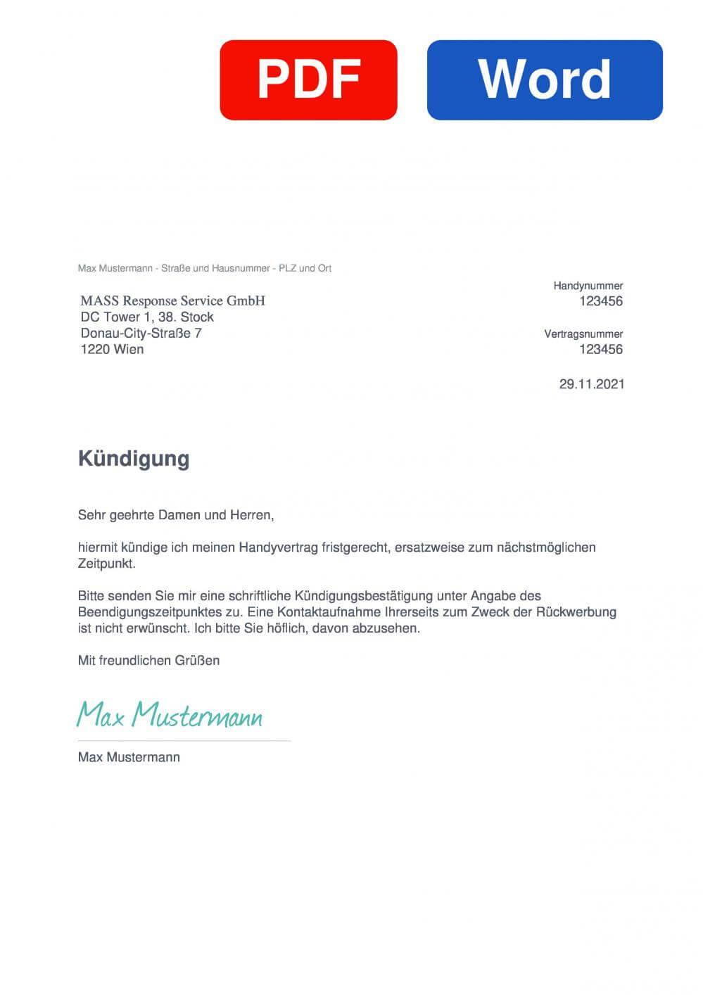 spusu Muster Vorlage für Kündigungsschreiben