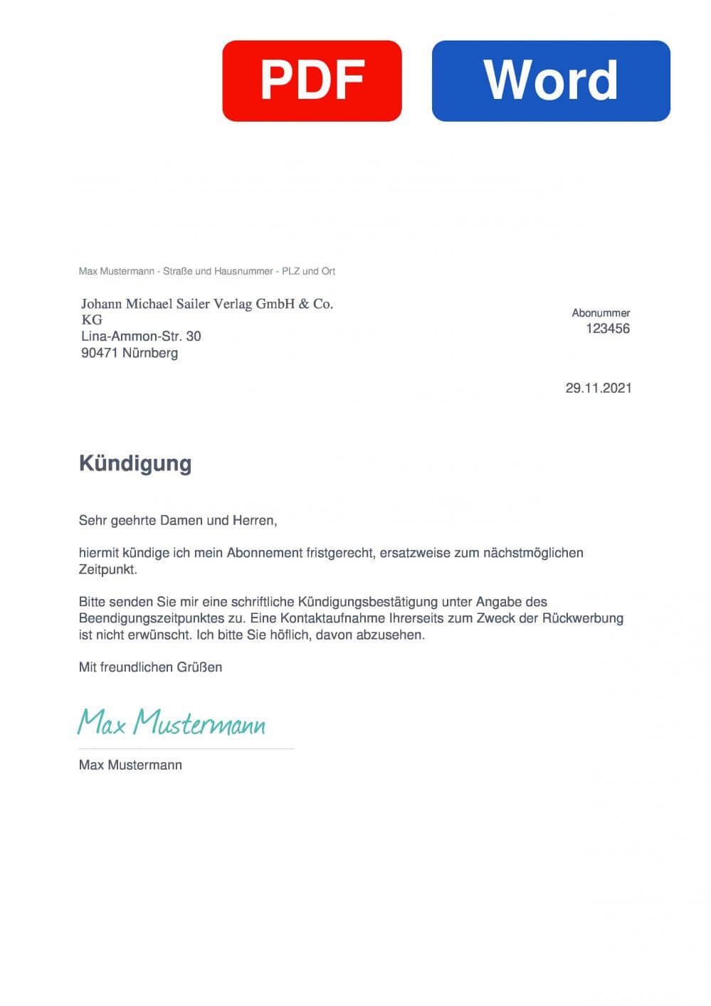 Stafette Muster Vorlage für Kündigungsschreiben