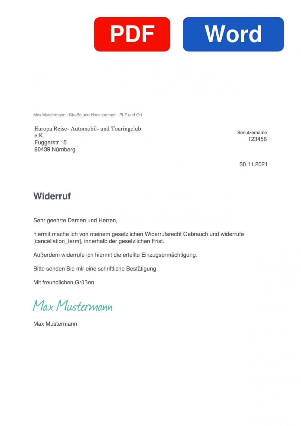 Tuningclub Muster Vorlage für Wiederrufsschreiben