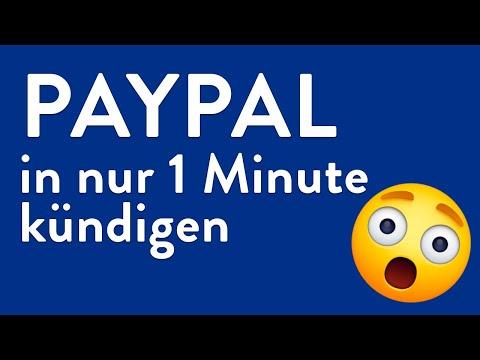 PayPal kündigen - in genau 1 Minute erledigt!