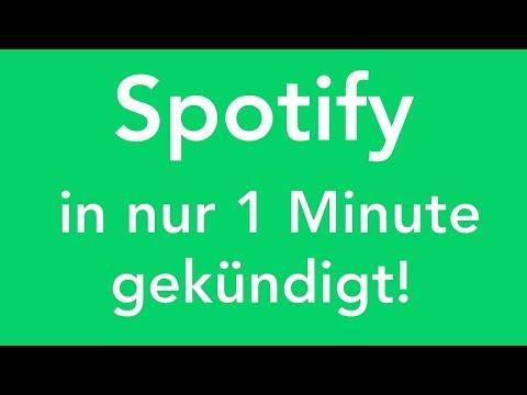 Spotify online kündigen - in genau 1 Minute erledigt!
