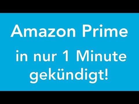 Amazon Prime online kündigen - in genau 1 Minute erledigt!