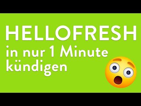 HelloFresh kündigen - in genau 1 Minute erledigt!