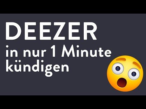 Deezer kündigen - in genau 1 Minute erledigt!