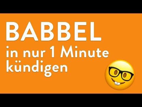 Babbel kündigen - in genau 1 Minute erledigt!