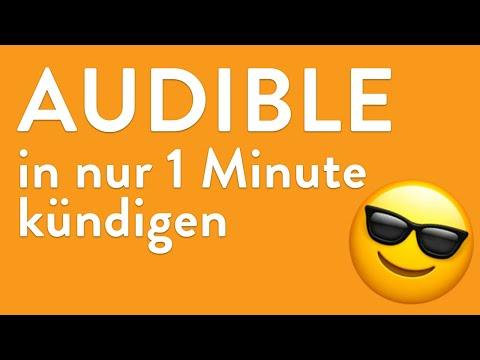 Audible online kündigen - in genau 1 Minute erledigt!