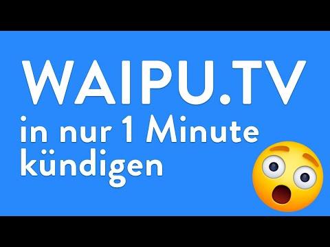 waipu.tv kündigen - in genau 1 Minute erledigt!