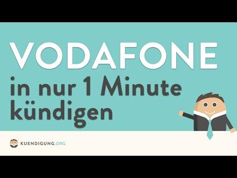 Vodafone kündigen - in genau 1 Minute erledigt!