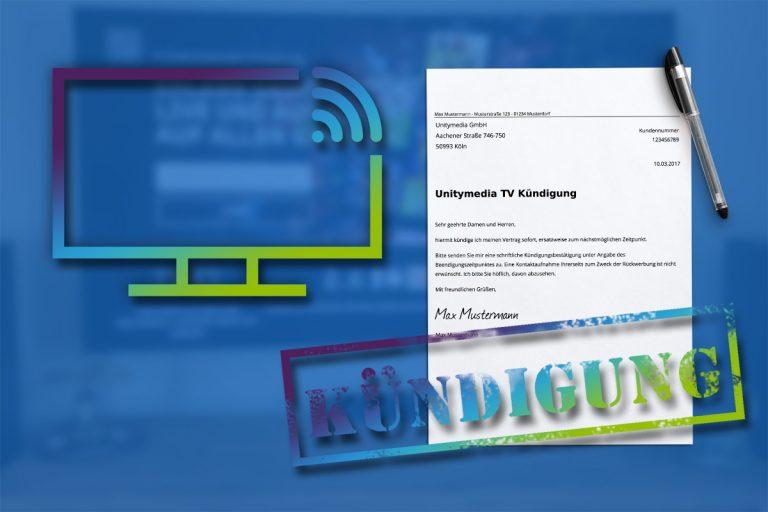Fernsehen bei Unitymedia TV kündigen