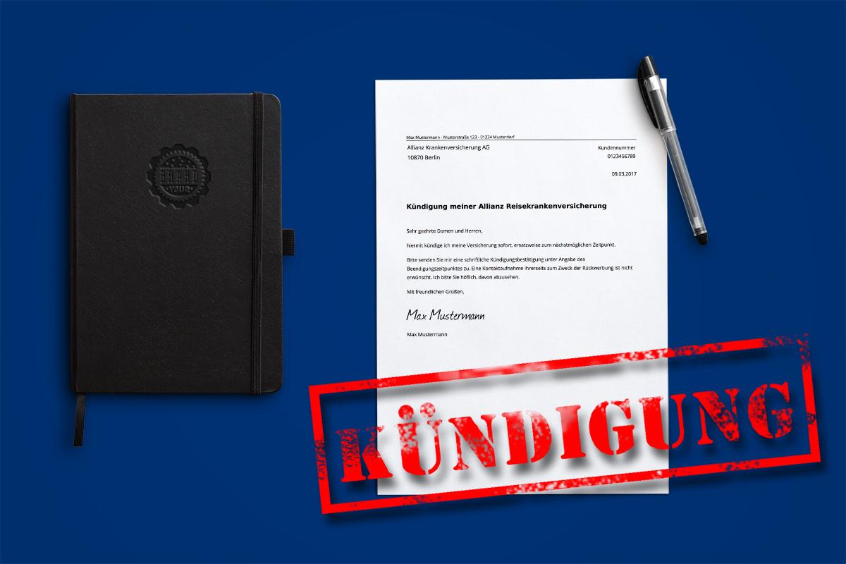 Allianz Reisekrankenversicherung Kündigung Kostenlose Vorlage