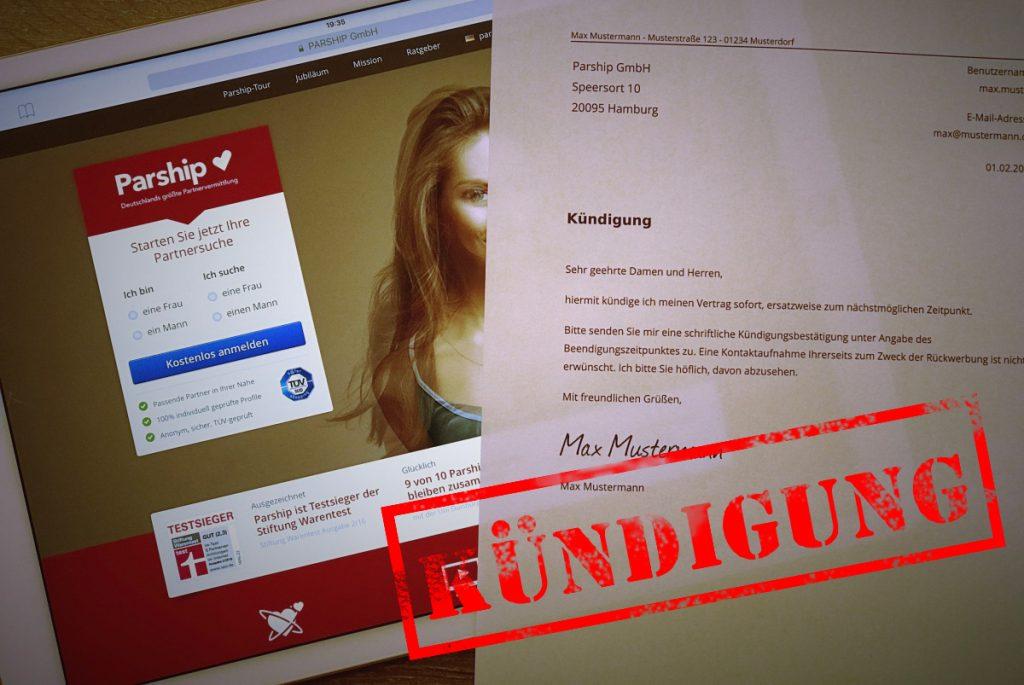 Parship Online Kündigen Kostenlose Vorlage Zum Download