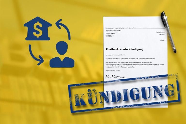 Postbank Kündigen Kostenlose Vorlage Zum Download