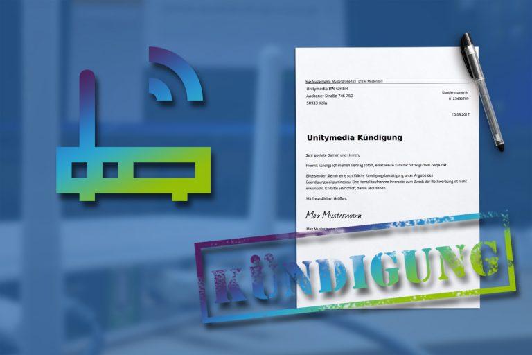 Unitymedia Kündigung Vorlage