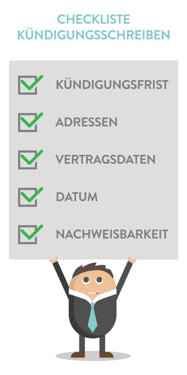 checkliste kndigungsschreiben - Kundigungsbestatigung Arbeitgeber Muster