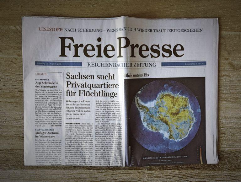 Zeitungsabo der Freien Presse