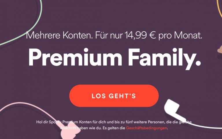 Kosten Spotify Family