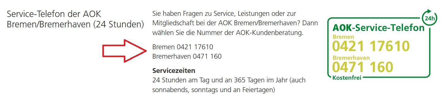 AOK BremenBremerhaven Service