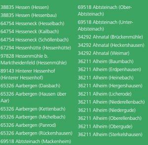 AOK Hessen Servicestellen