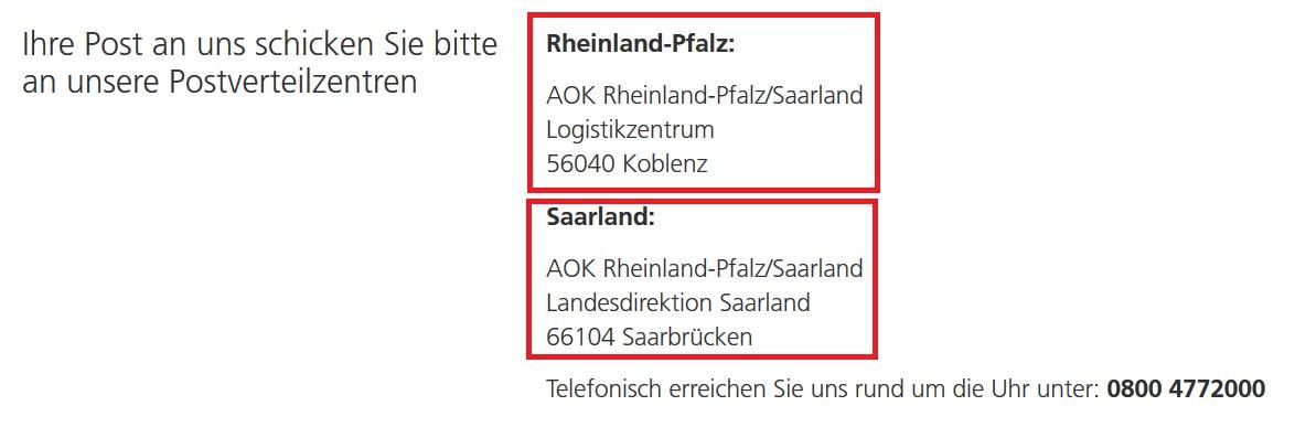 AOK RheinlandPfalz-Saarland