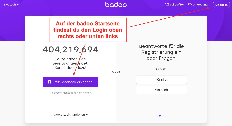 Badoo Login Startseite