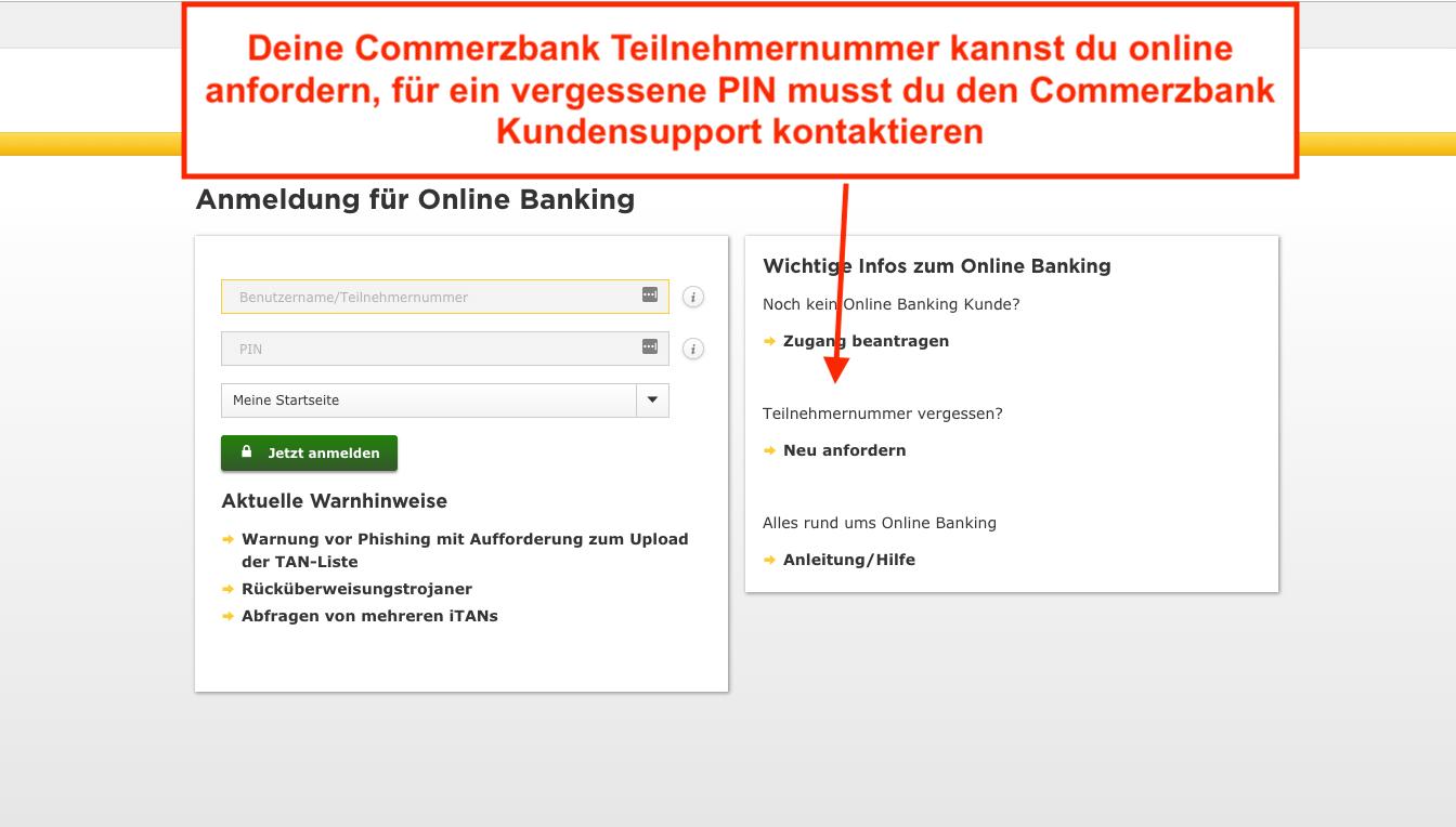 Commerzbank Buchungszeiten