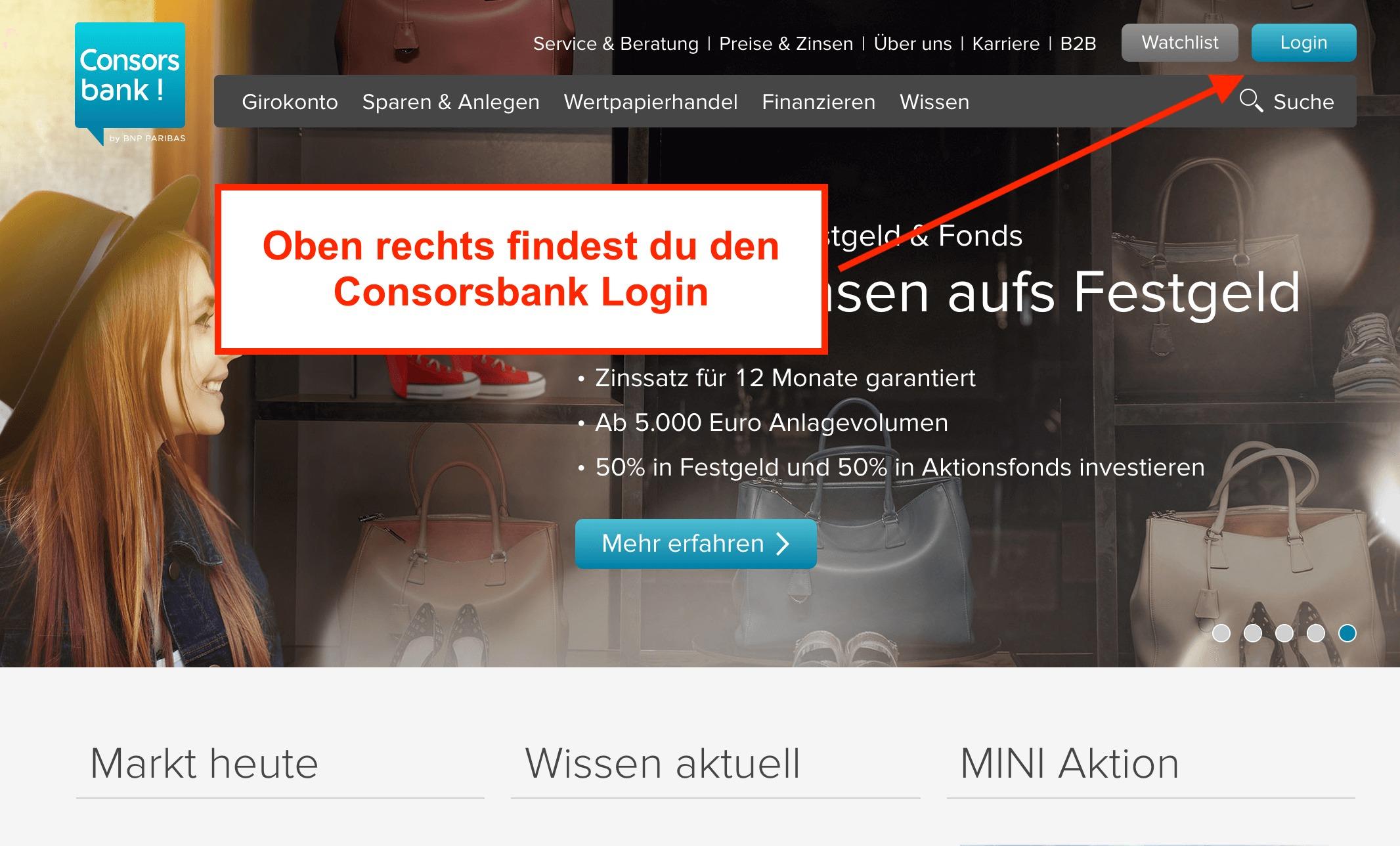 Consorsbank Login Direkt Zum Depot Und Finanz Login