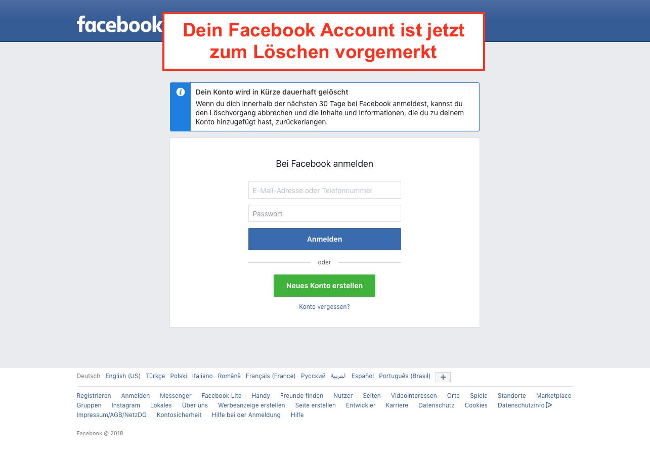 anmelden bei facebook