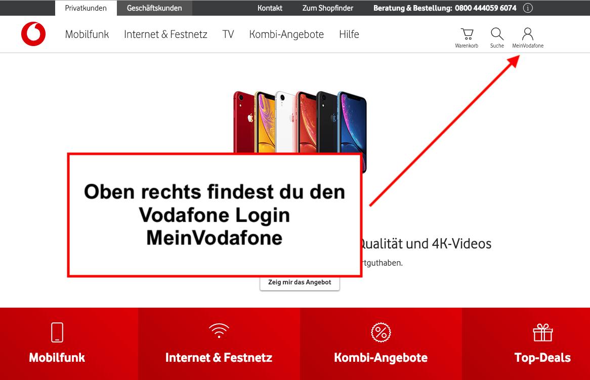 Vodafone Login MeinVodafone