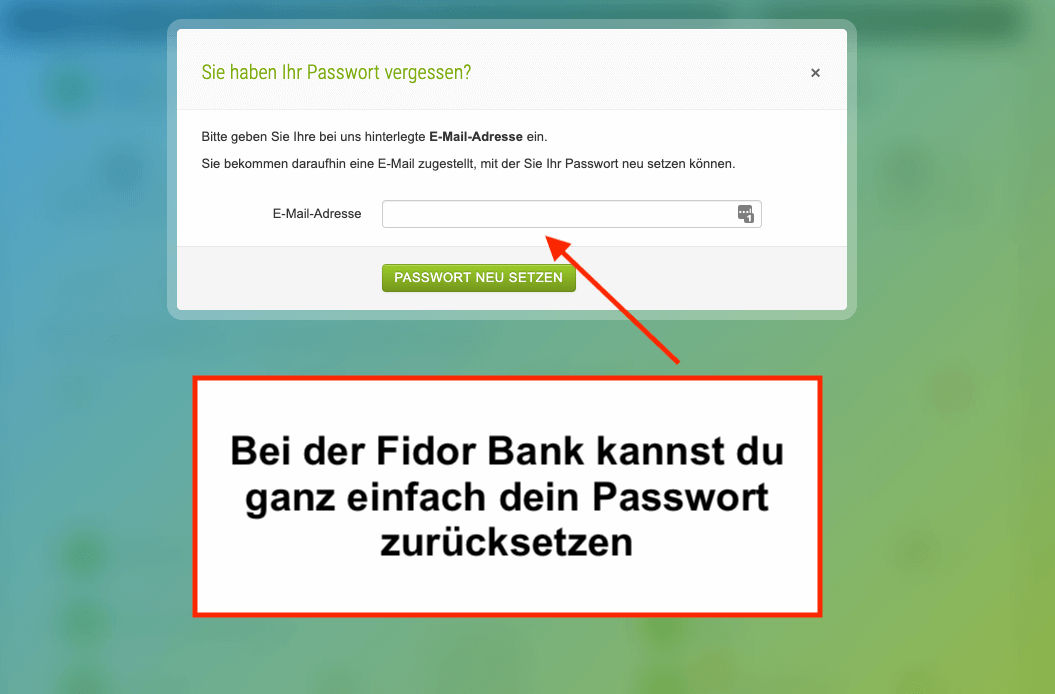 Fidor Bank Login