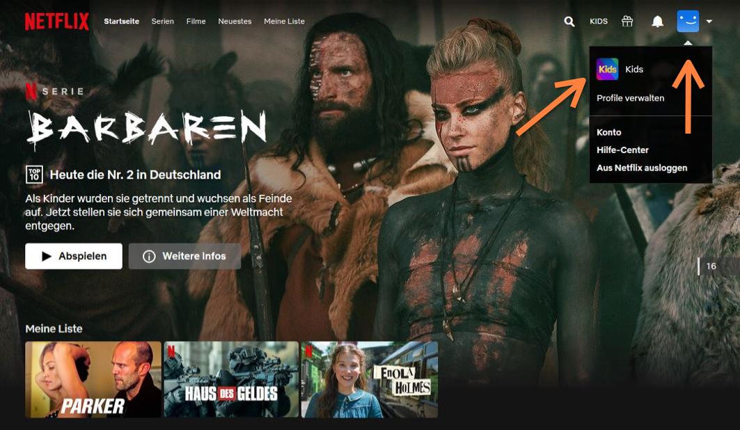 Netflix Login Profil auswählen