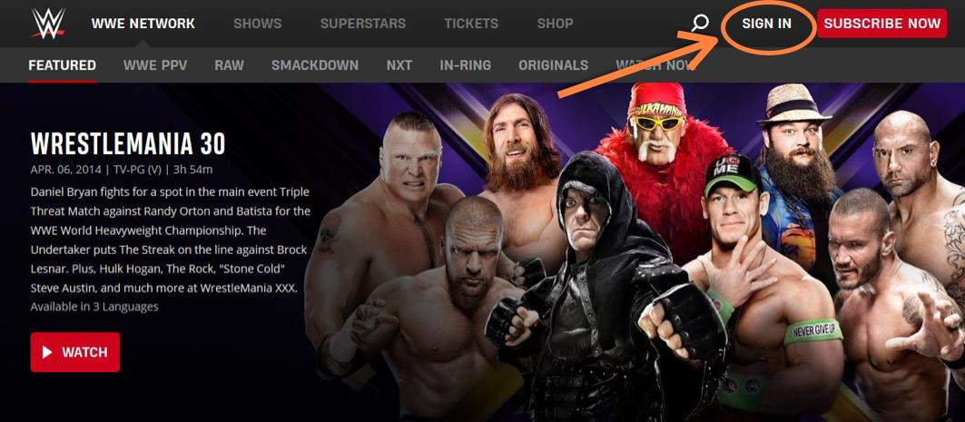 WWE Network Login