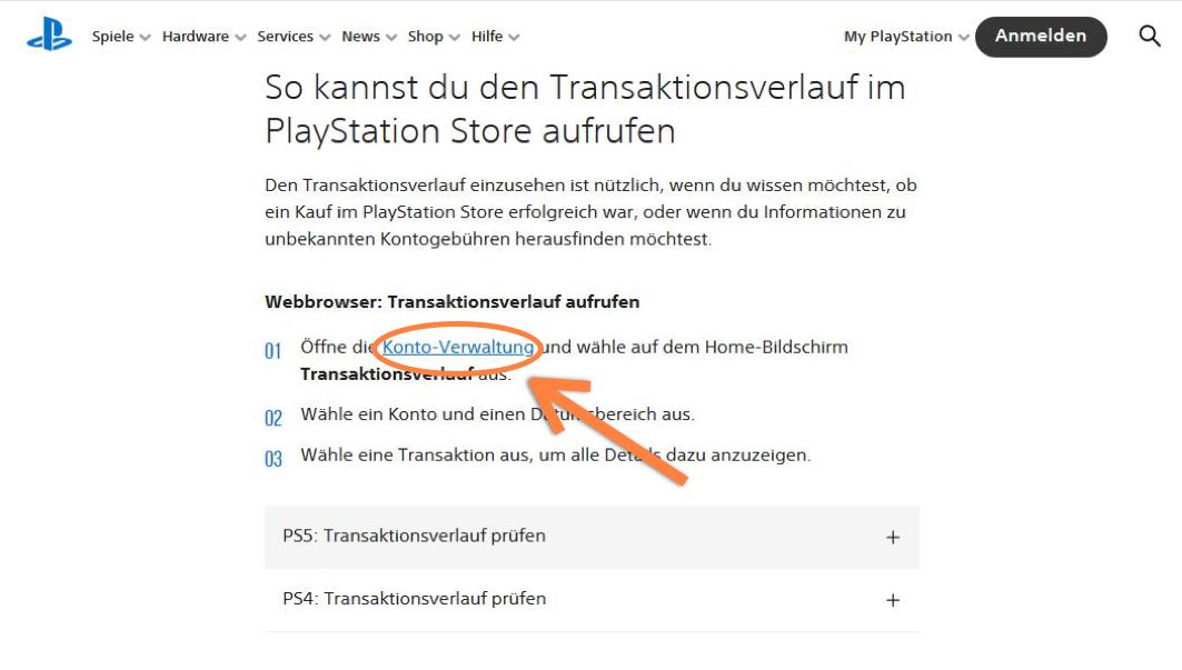 Playstation Plus Konto verwalten