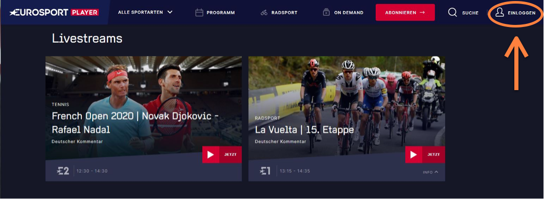 Eurosport Player Kündigung Login
