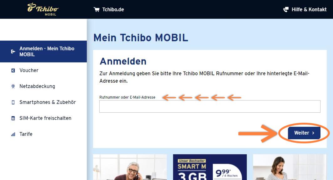 Tchibo MOBIL Login